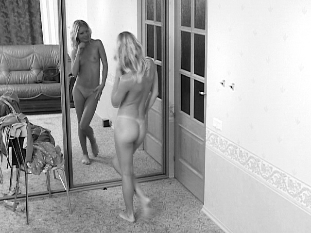 Tonight, we have a hidden camera video of a blonde teen babe named Liza. It records everything as she changes outfits. The result is a very hot video of this teen and her sexy body. We get to watch as she poses in front of the mirror, admiring her own natural hottie before she finishes changing.video